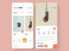 Lampster app - App Templates - Ideas of App Templates - Lampster app by Asha Rajput for Mindinventory on Dribbble Ui Design Mobile, Mobile Application Design, App Ui Design, Interface Design, User Interface, Design Design, Design Layouts, Flat Design, App Design Inspiration