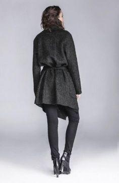 Płaszcz zielony RICH  - płaszcz, płaszcz zielony, płaszcz zimowy
