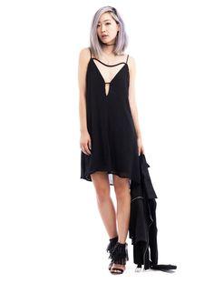 Black Cutout Back Shift Dress - BLU BOUTIQUE