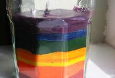 Rainbow candle from old crayons- 15 Homemade Gifts That Kids Can Make for Teachers I Homemade Teachers Gift Ideas - ParentMap