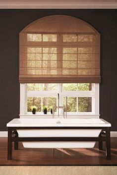 Add texture to your home with natural woven #RomanShades