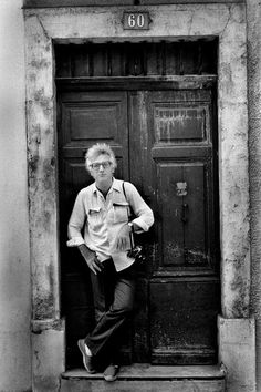 Photographer Lucien Clergue outside his home in Arles, 1981 - photo by Bill Jay - I love Bill Jay's portraits of photographers and hope he wouldn't have minded me putting this one on Pinterest in hopes that it will introduce other photo buffs to his fine pictures. (He died in 2009.)