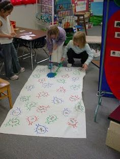 "Write sight words on bugs and students race to ""squish"" it with fly swatters! How fun!"