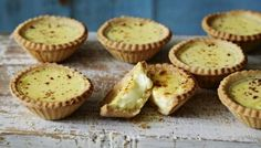 The slightly nutty short-crust pastry makes the perfect crumbly case for a rich egg custard topped with nutmeg. Go on have another!  Equipment and preparation: You will need a 12-hole muffin tray and a 11cm/4½in fluted cutter.