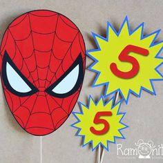 Resultado de imagen para centros de mesa de spiderman