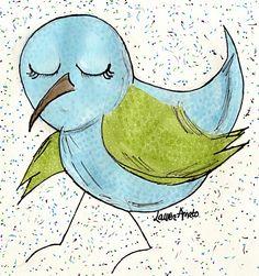 My Bird Illustration My LaLady