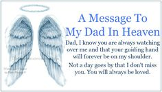 To My Dad in Heaven | Daveswordsofwisdom.com: A Message To My Dad In Heaven.