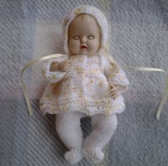 Knitted Dolls Clothes 6.5 inch Reborn Doll or Rosebud by paulinet