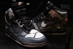Get your Halloween on with the Diversitile x Nike Dunk High 'Frankensteins' (Custom) #sneakers