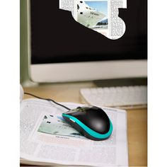 mouse that scans documents or pictures to a computer. A scanner on the bottom of the mouse scans as the device is moved in any direction across a document. The included software stitches together the scanned segments and properly aligns the image for an exact, seamless digital reproduction