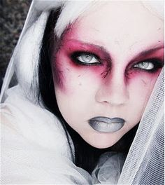 Did this look for Halloween 11'. But I did red and black lips instead. It was a definitely hit and I loved it!