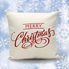 Christmas Letter Sofa Bed Home Decoration Pillow Case Cushion Cover Free Xmas
