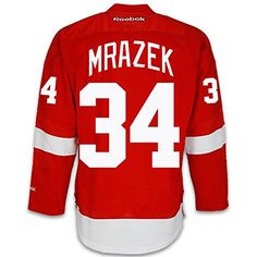 40eb6be21 Petr Mrázek Detroit Red Wings NHL Red Reebok Premier Home Game Limited  Jersey – Detroit Sports