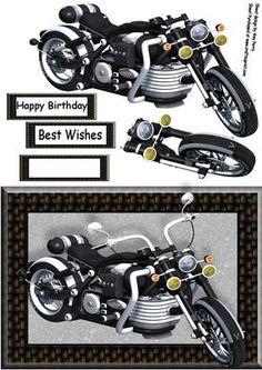 Beautiful Black Motorbike on Craftsuprint - Add To Basket!