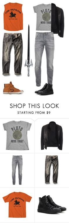 """""""Nico Di Angelo-- Son of Hades"""" by bandumb ❤ liked on Polyvore featuring S.W.O.R.D., Gucci, Scotch & Soda, MANGO, Converse, men's fashion and menswear"""