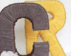 Yarn letters, Custom yarn wrapped letters