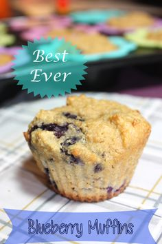 I am a blueberry muffin addict...Best Ever Blueberry Muffins (oat flour, 2 eggs, applesauce, yogurt)