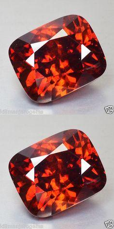 Sphalerite 181106: 12.34 Cts Natural Fire Reddish Orange Sphalerite Cushion Cut Spain Gem (Video Av -> BUY IT NOW ONLY: $990 on eBay!