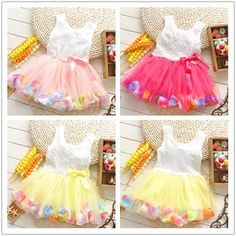 2014 New arrival Retail Free shipping baby girl ball gown dress Rose lace Fashion Baby Dress Baby Clothes $19.86