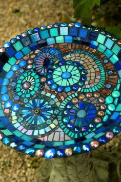 Cobalt Blue birdbath | by annie adams july 9 2012 at 2 27 pm no comments outdoor tags garden ...