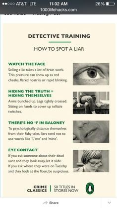 How To Detect A Liar
