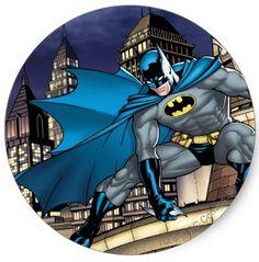 Shop Batman Scenes - Tower Classic Round Sticker created by batman. Batman Wallpaper, Dc Comics Heroes, Dc Comics Art, Batman Stickers, Batman Cookies, Batman Room, Edible Printing, Batman Party, Nerd Art