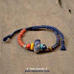 NEW • READY STOCK • YAMA BRACELET • Material : * Sodalite stone * Lapiz lazuli stone * Tiger eye stone * Tibetan alloy spacer * Glass bead * Thread • Sodalite di kenal sebagai batu yang membawa perasaan nyaman dan damai, serta mempertajam imajinasi dan konsentrasi • Shop : line : labdagatic Whatsapp : 088805534461 • WWW.LABDAGATIC.COM • #labdagatic #handmade #jewelry #accessories #bracelet #yogajewelry #gelangyoga #popethnic #unisex #jualgelang #amulet #hippie #nepal  #sodalite #bohemian…