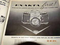 Hey, I found this really awesome Etsy listing at https://www.etsy.com/listing/199066608/1957-us-camera-magazine-advertisement