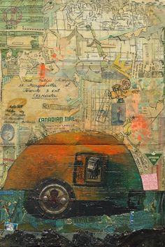 Working Class Holiday Susan Szenes (2013) Mixed media on wood 16in × 11in × 1in Current Bid: $800  #art #toronto #SusanSzenes ARTBOMB: BUY WHAT YOU LOVE