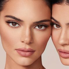Kendall Jenner Make Up, Kendall Jenner Photoshoot, Kendall And Kylie, Kendall Jenner No Makeup, Kendall Jenner Eyebrows, Kylie Jenner Face, Jenner Makeup, Mac Velvet Teddy, Mac Brave
