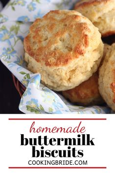 Looking for an easy Southern buttermilk biscuit recipe you can make from scratch? Follow these four tips for light fluffy biscuits every time. Yeast Bread Recipes, Quick Bread Recipes, Pastry Recipes, Cooking Recipes, Yummy Recipes, Baking Scones, Bread Baking, Sweet Pastries, Bread And Pastries