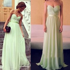 Strapless Sage Bridesmaid Dresses Prom Gowns Pst0156 on Luulla