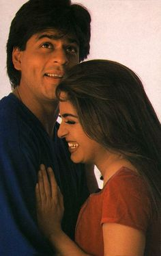 Shah Rukh Khan and Juhi Chawla - Yes Boss (1997) - promotional shot