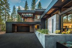 This mountain modern home was custom designed by architecture studio Sagemodern