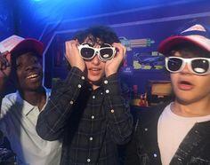 Caleb, Finn, and Gaten