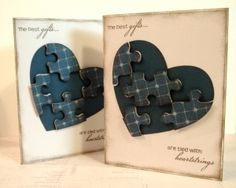 Puzzled Hearts cut with CTMH Cricut Artiste cartridge, using Avonlea paper