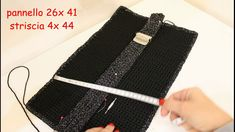 TUTORIAL: Bustina facile all'uncinetto pochette lurex by lafatatuttofare...