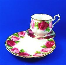 Old English Roses Royal Albert Tea Cup and Saucer Tennis Snack Set