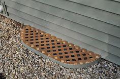 siding, window well covers, window well cover, diy, vinyl lattice, lattice, plywood, screws, frogs, june bug