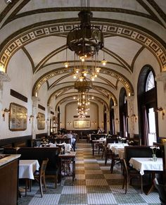 Melody King Komisar and Company ASID Allied                / The Callas Cafe, Budapest, Hungary #cafe #callascafe #budapest #hungary #vintage #architecture #chic #decor #design #elegant #food #gourmet #interior #instadecor #lifestyle #interiordesign #living #patina #rich #stylish #lux #style #tiles #lighting #dining #gourmet #cuisine
