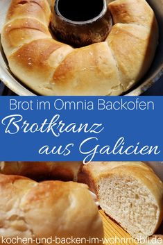 Rosca gallega or Pan gallego from the Omnia Camping oven ›cook-and-backen-im-wohnmobil. Camping Oven, Claudia S, Easy Bread, Oven Cooking, Baking Pans, Camping Ideas, Hot Dog Buns, Food And Drink, Travelling