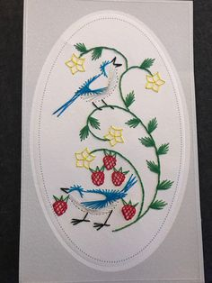 The Latest Trend in Embroidery – Embroidery on Paper - Embroidery Patterns Paper Embroidery, Hobbit, Pet Birds, Projects To Try, Stitching, Birds, Animales, Thread Art, Buttons
