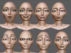 Rapunzel gothel emotions blend shapes morphs reference
