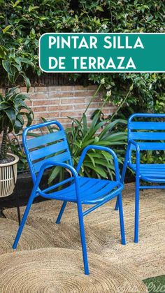 Lawn Chairs, Outdoor Chairs, Outdoor Furniture, Outdoor Decor, Chair Makeover, Terrace Garden, Spray Painting, Dining Set, Sunroom