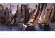 Sailboats In Manhattan I