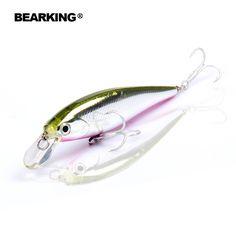 소매 낚시 태클 새로운 모델, Bearking 완벽한 액션 미노, 78 미리메터/9.2 그램, 다이빙 0.8-1.2 메터 현탁 미끼, 선택 5 색