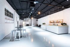 The venue, minimalistic and chic