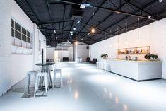 The venue, minimalistic and chic