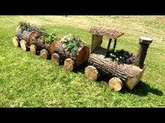 was konnen wir ferikutuk sagen – Wood Design – diy garden landscaping Garden Yard Ideas, Diy Garden Decor, Garden Crafts, Creative Garden Ideas, Garden Ponds, Koi Ponds, Garden Decorations, Log Projects, Garden Projects