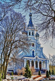 Church of the Icon of Our Lady of Vladimir (1888) in  Kronshtadt, St Petersburg, Russia.